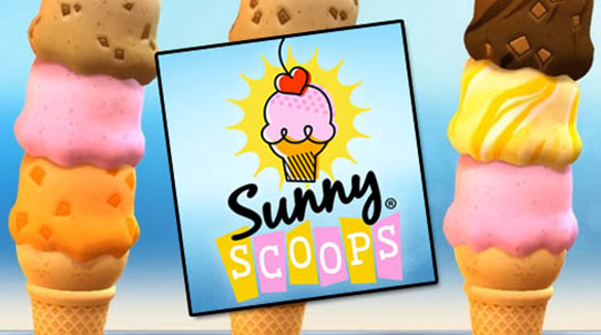 Sunny Scoops – glass i stora lass